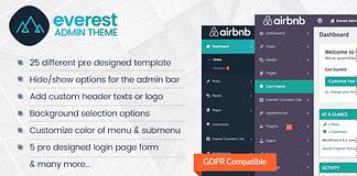 Everest Admin Theme – WordPress Backend Customizer Plugin