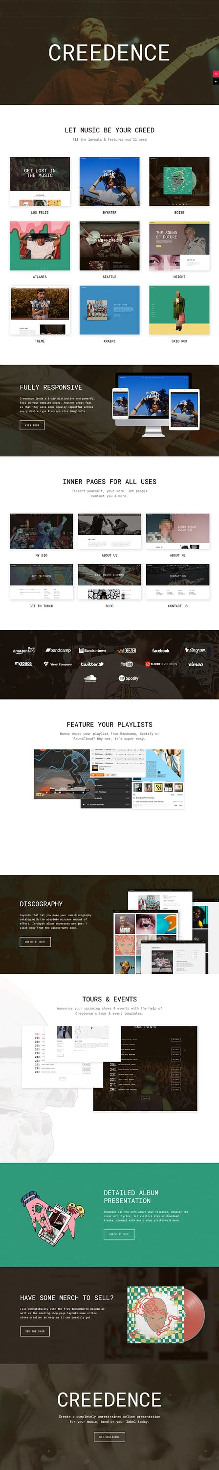 Creedence - Best Premium Video and Music WordPress Theme