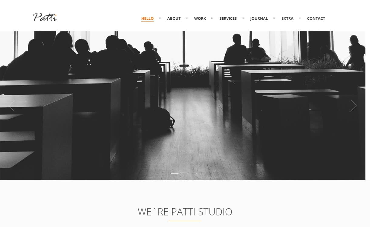 Patti - Best Premium WordPress One-Page Themes 2017
