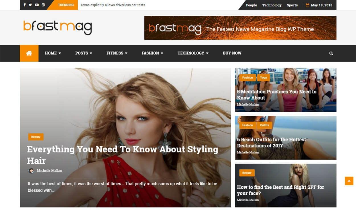 bFastMag - Best Free Adsense WordPress Themes