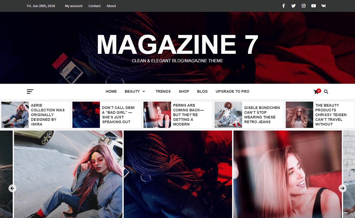 Magazine 7-Best Free WordPress Themes June 2018