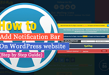 Add Notification Bar On WordPress Website