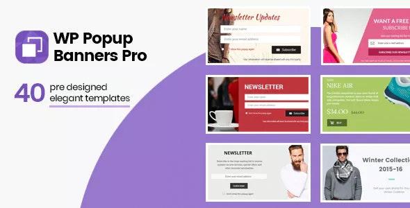 WP Popup Banners Pro - WordPress Popup Plugin
