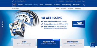 1 & 1 Web Hosting - Largest WordPress Hosting Providers
