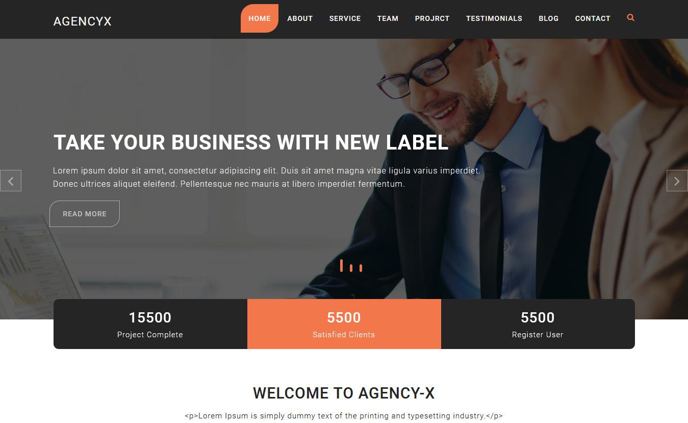Agency X - Free Consulting WordPress Theme