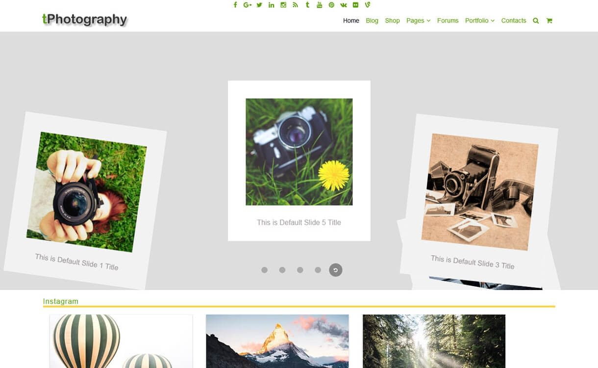 tPhotography-Best Free WordPress Photography Themes