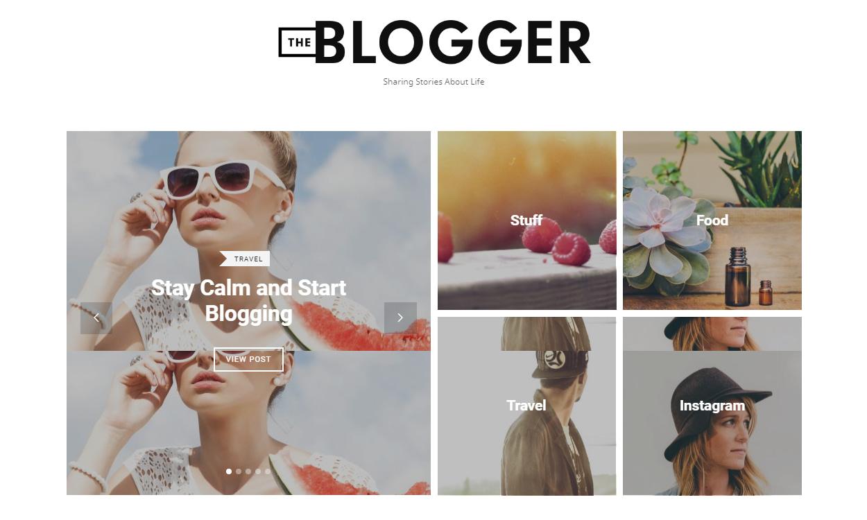 The Blogger - Best Premium WordPress Blog Theme