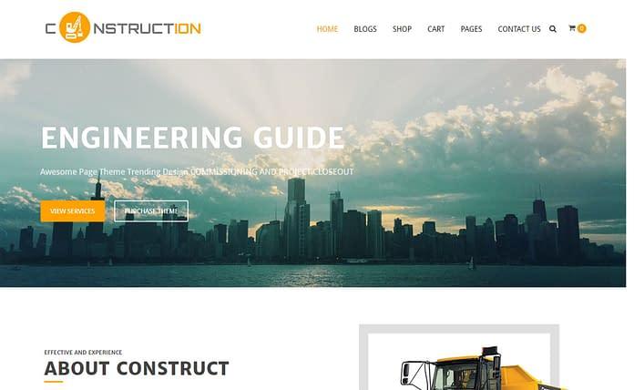 Construction - Free Construction WordPress Theme