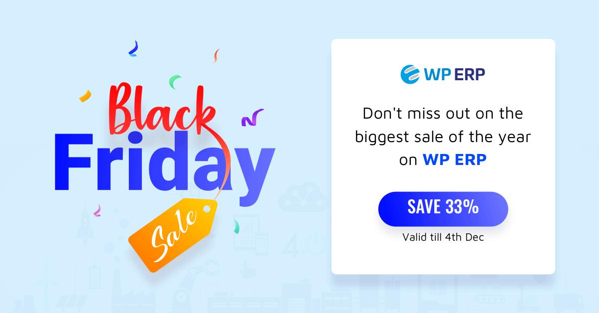 WP ERP - Black Friday Deal 2019