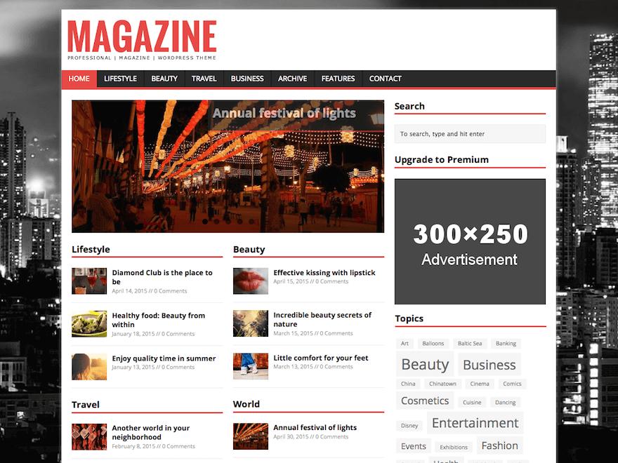 MH Magazine Lite - Free WordPress Online Magazine Theme