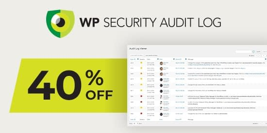 WP Security Audit Log - Black Friday Cyber Monday Deal