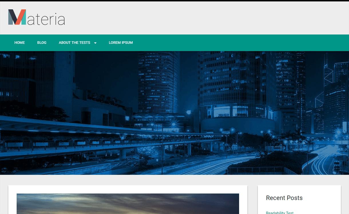 Materia Lite-WordPress Material Design Theme