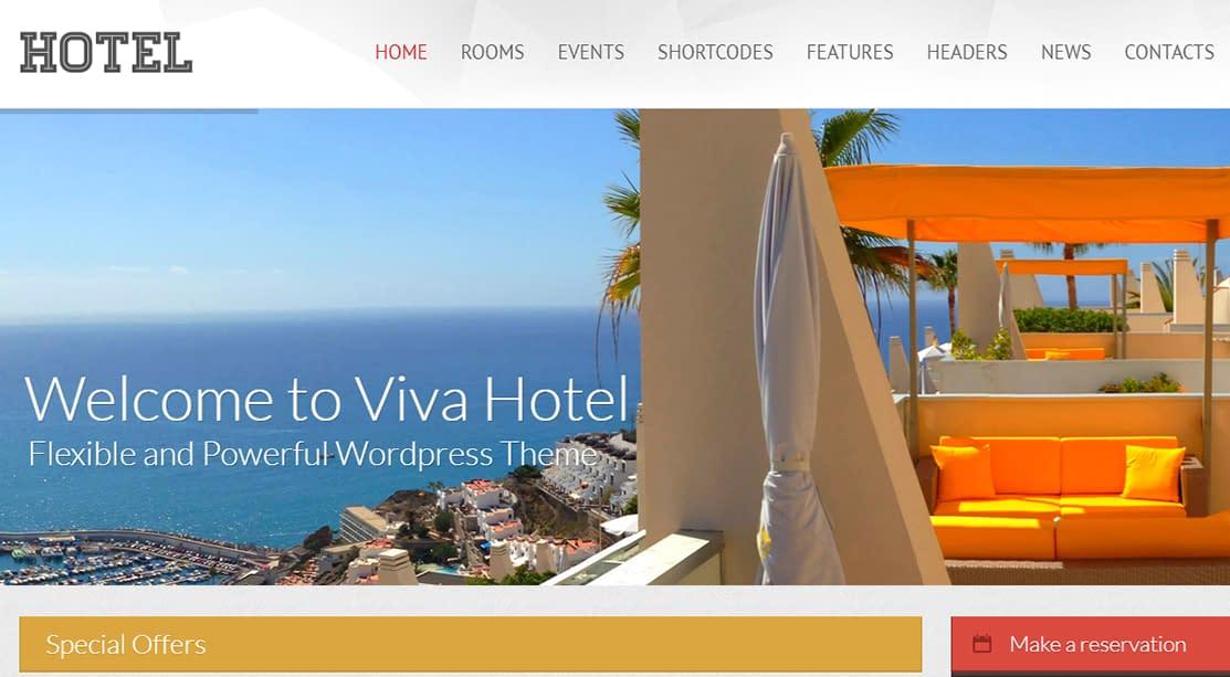 Viva Hotel - Premium Responsive WordPress Theme