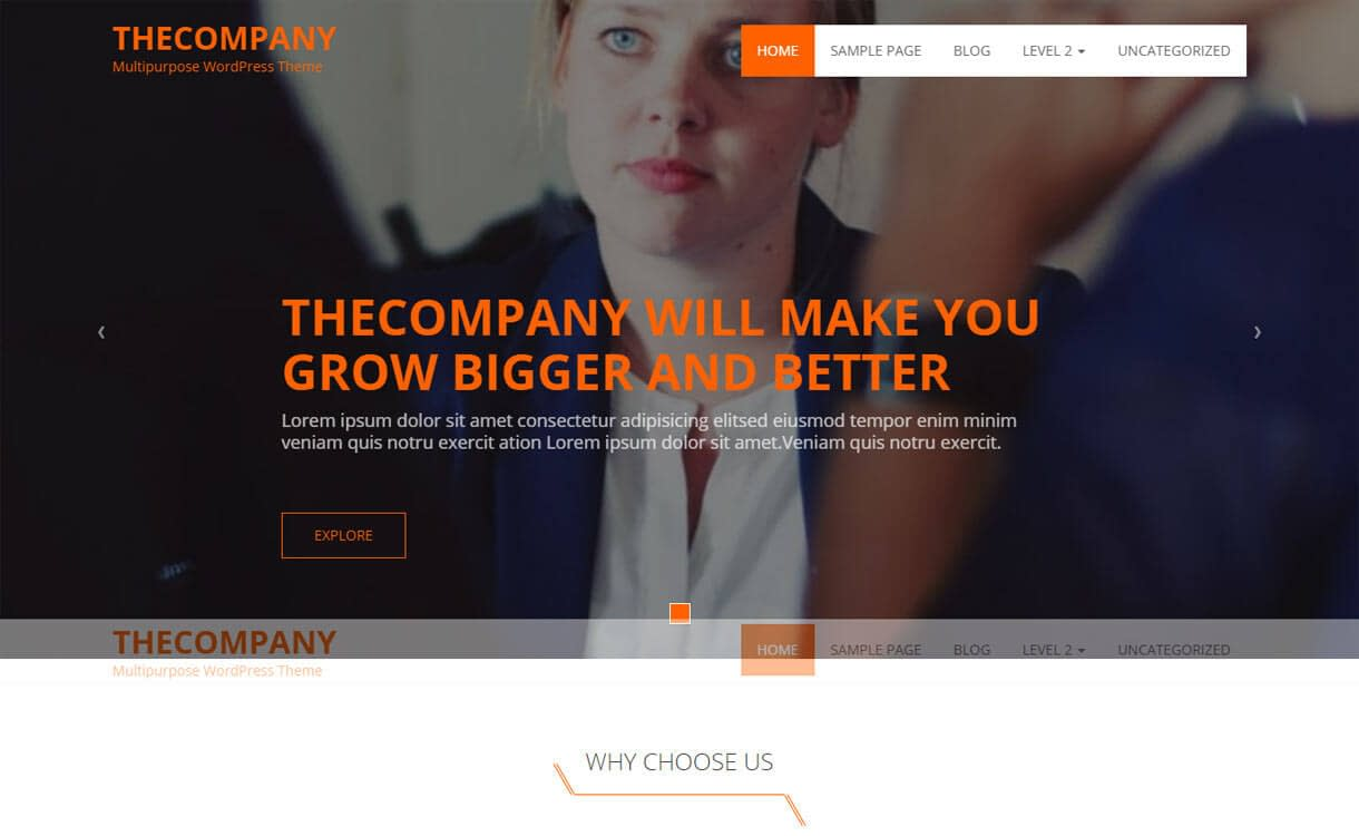 The Company - Best free WordPress Business Theme 2018