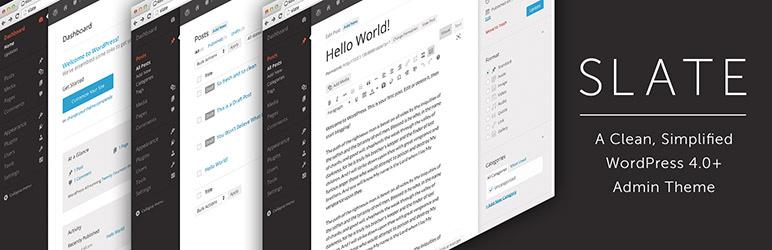 Slate Admin Theme - Best Free WordPress Backend Customizer Plugin