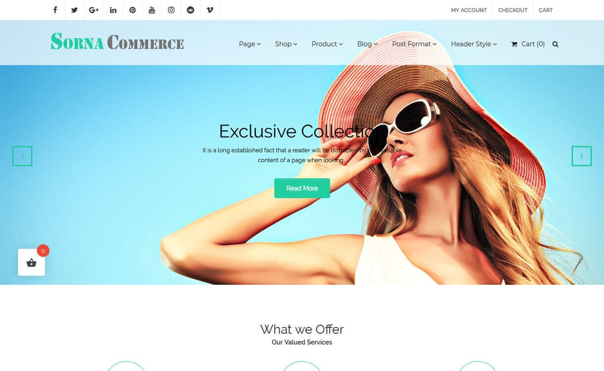 SornaCommerce-Best Free WordPress eCommerce Themes