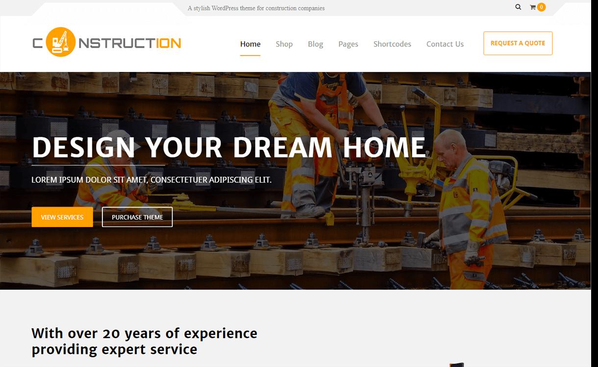 Constuctera-Best Premium WordPress Construction Company Themes 2018