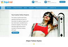 Squirrel - Tattoo Shop WordPress Theme