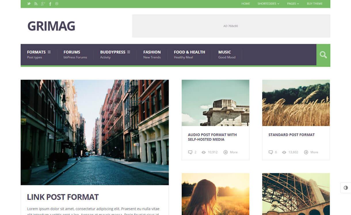 GriMag - Premium WordPress News-Magazine Themes