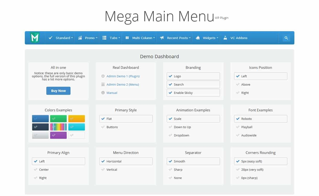 Mega Main Menu - WordPress Mega Menu Plugins