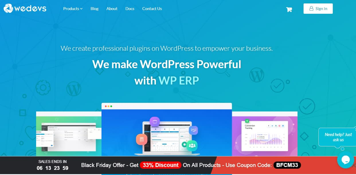 weDevs - Black Friday and Cyber Monday WordPress Deal 2018