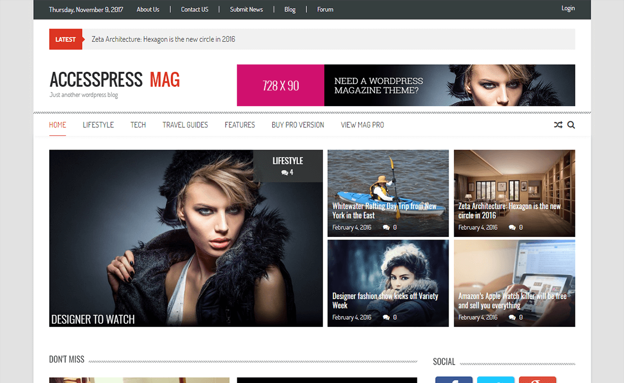 AccessPress Mag - Best Free Adsense WordPress Theme