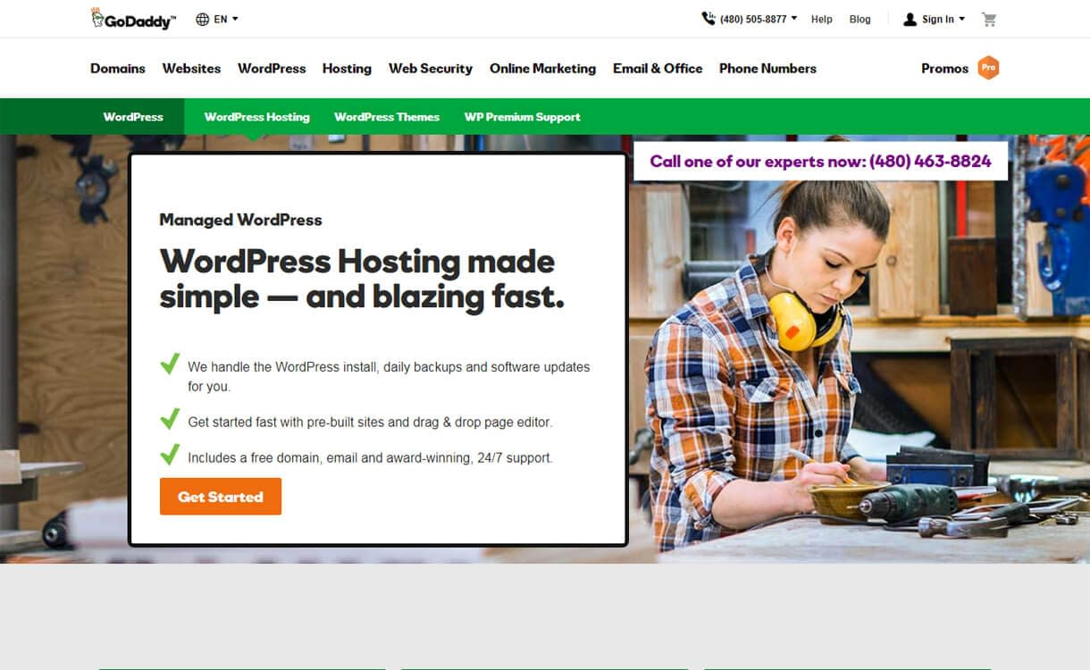 GoDaddy-Best WordPress Hosting Services