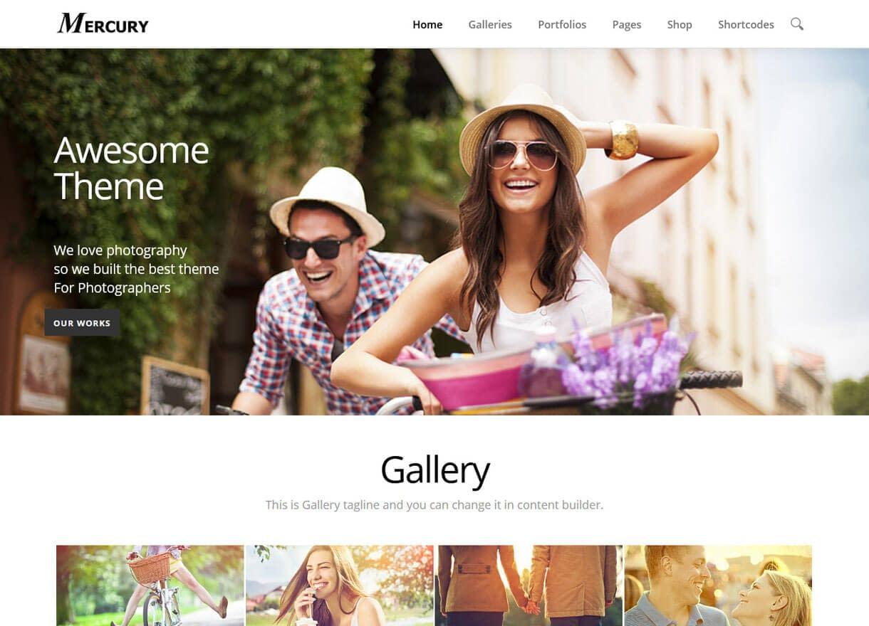 Mercury-Best Premium WordPress Photography Themes