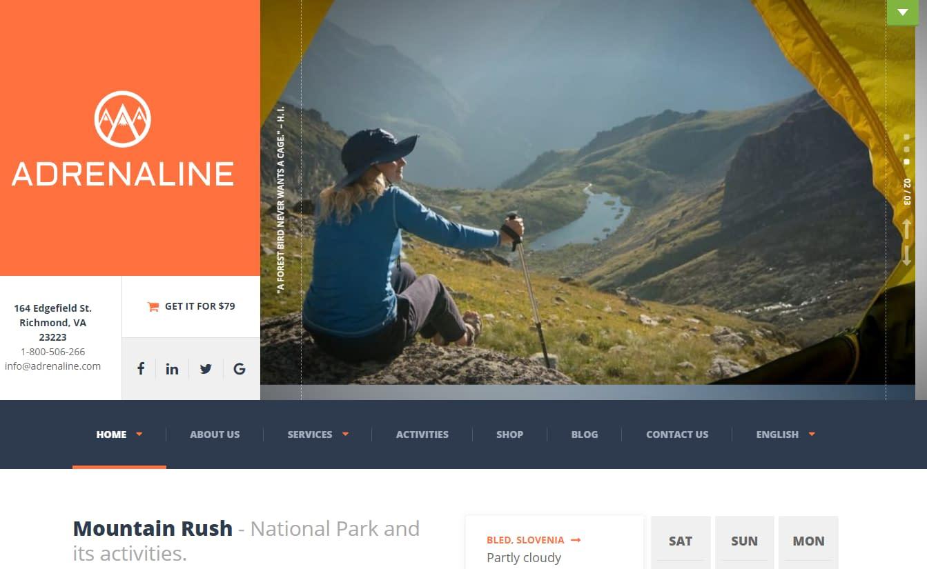 10+ Best Premium Outdoor Activities WordPress Themes