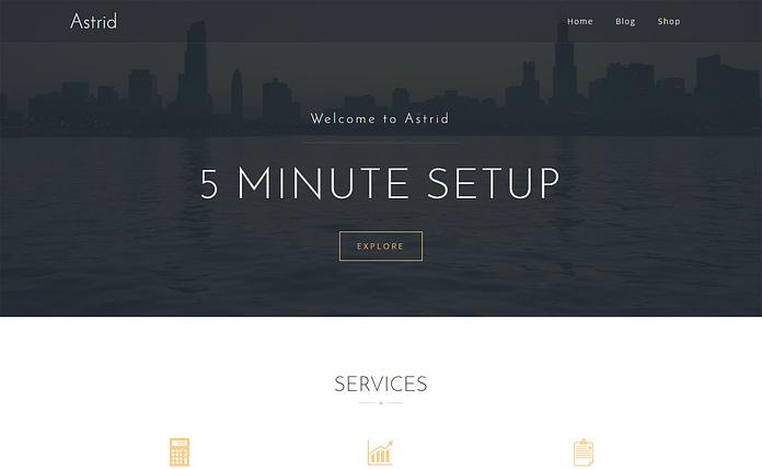 Astrid - Free Business WordPress Theme