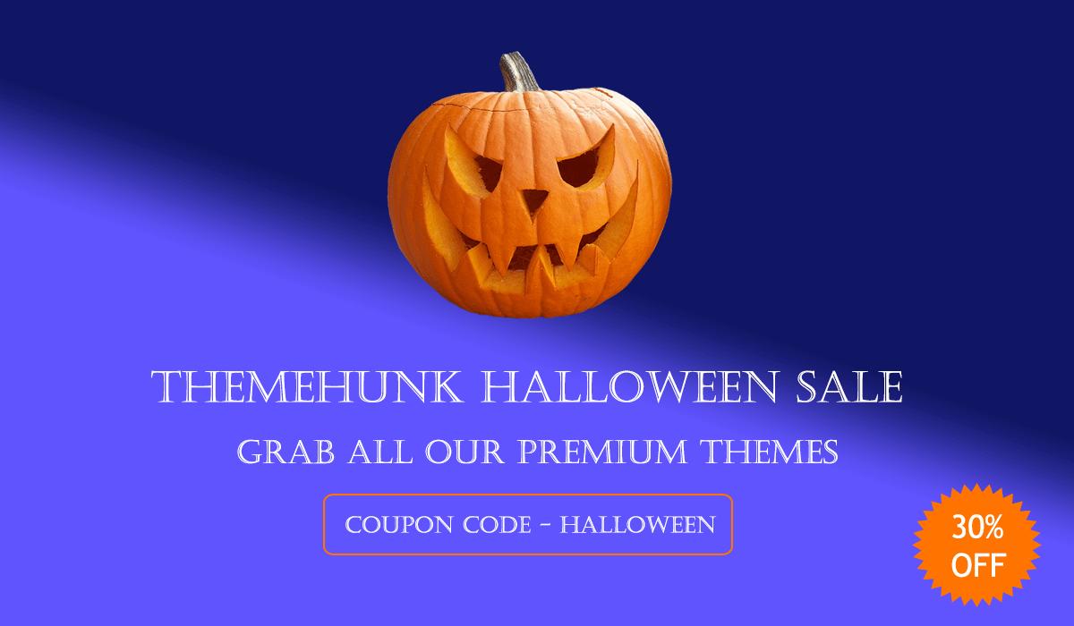ThemeHunk- WordPress Halloween Deals and Discounts