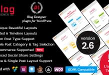 Blog Designer Pro - WordPress Blog Designer Plugin