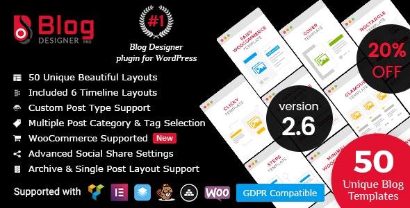 Blog Designer Pro - WordPress Blog Designer Plugin