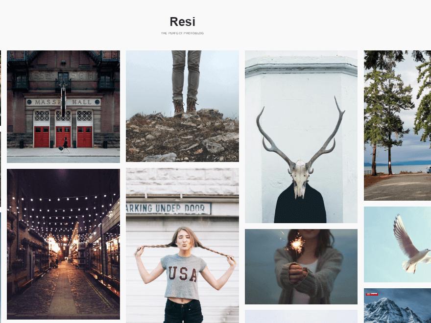 Resi - Free Photography WordPress Theme