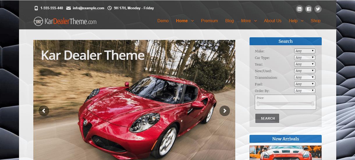KarDealer-Best Free WordPress Themes November 2017