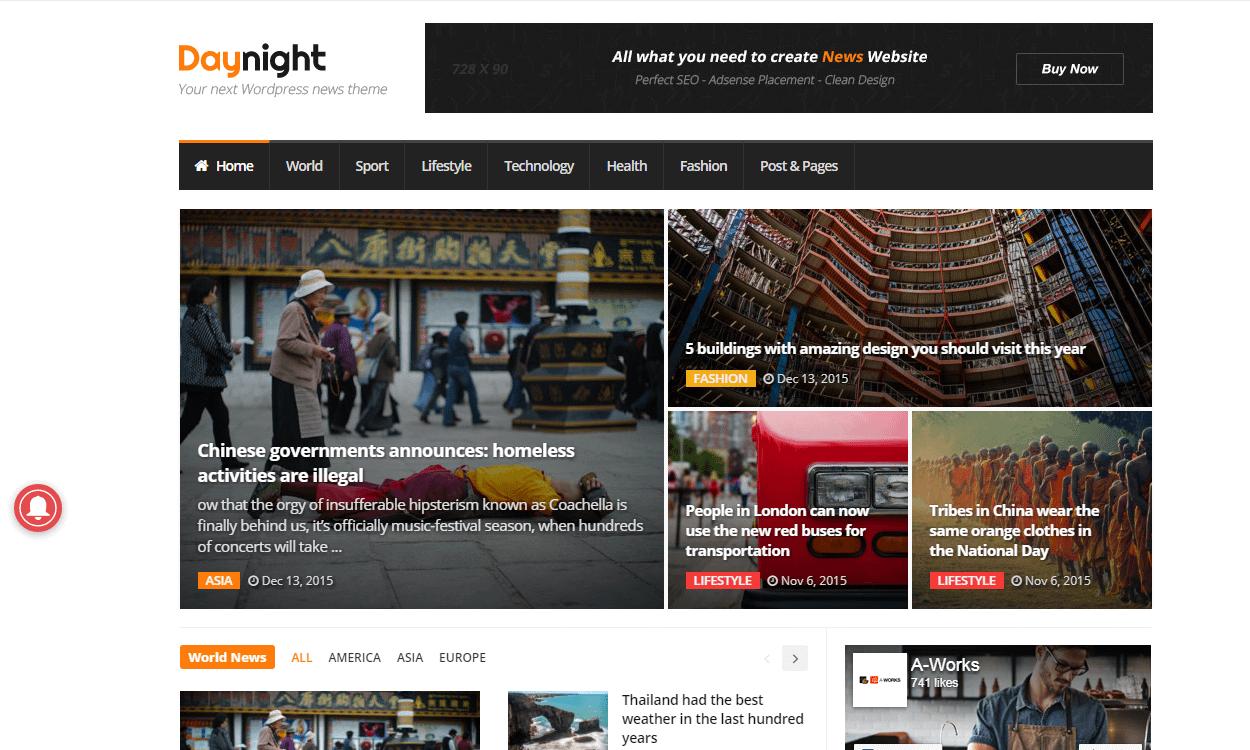 Daynight - Best Premium WordPress Magazine Theme