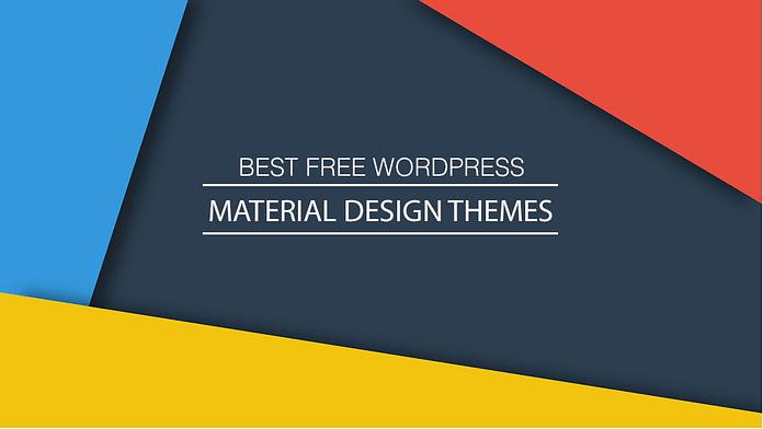 Best Free WordPress Material Design Themes