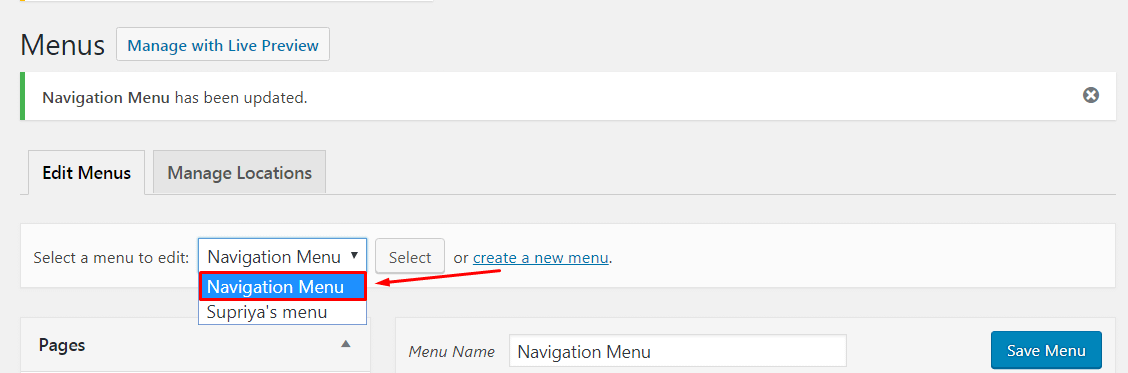 Add Specific Posts to WordPress Navigation Menu.