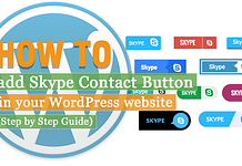 How to Add Skype Contact Button in your WordPress Website