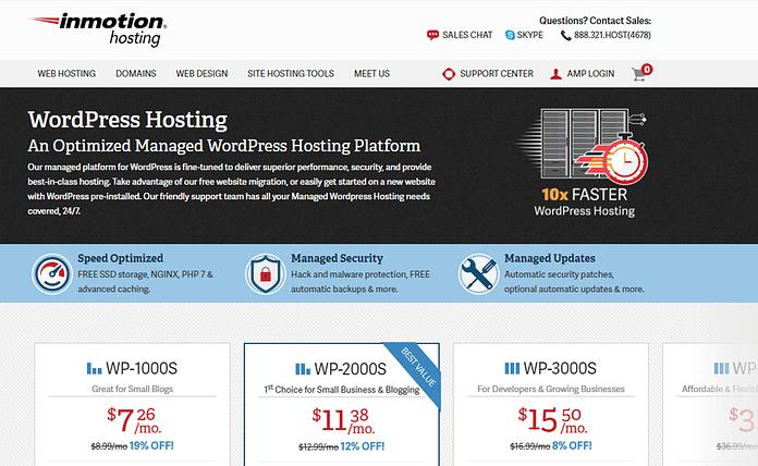 InMotion Hosting - Reliable WordPress Hosting Provider