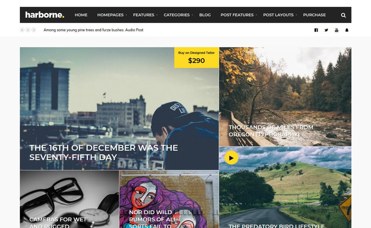 Harborne-WordPress Blog Themes