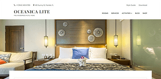 Oceanica Lite - Free Hotel WordPress Theme