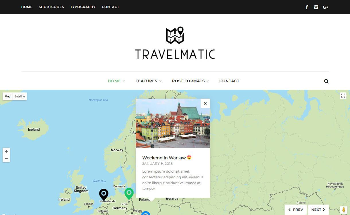 Travelmatic-WordPress Blog Themes