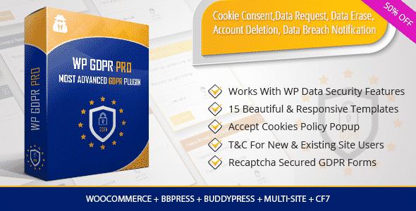 Best WordPress GDPR Compliance Plugins: WP GDPR Pro