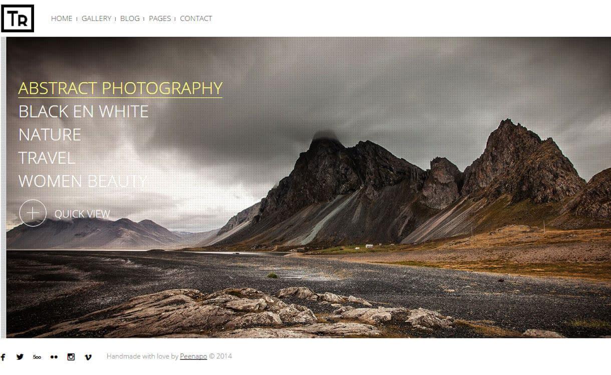 Trend - Best Premium WordPress Photography Themes
