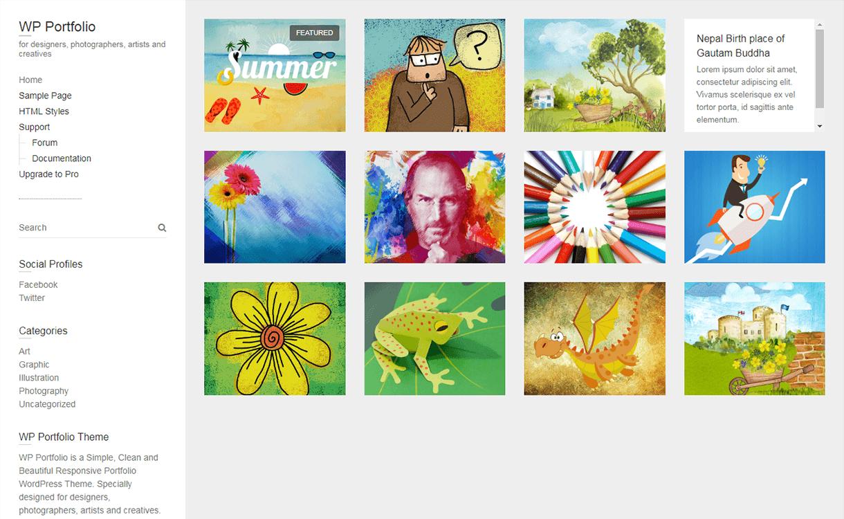 WP Portfolio-Free WordPress Portfolio Themes