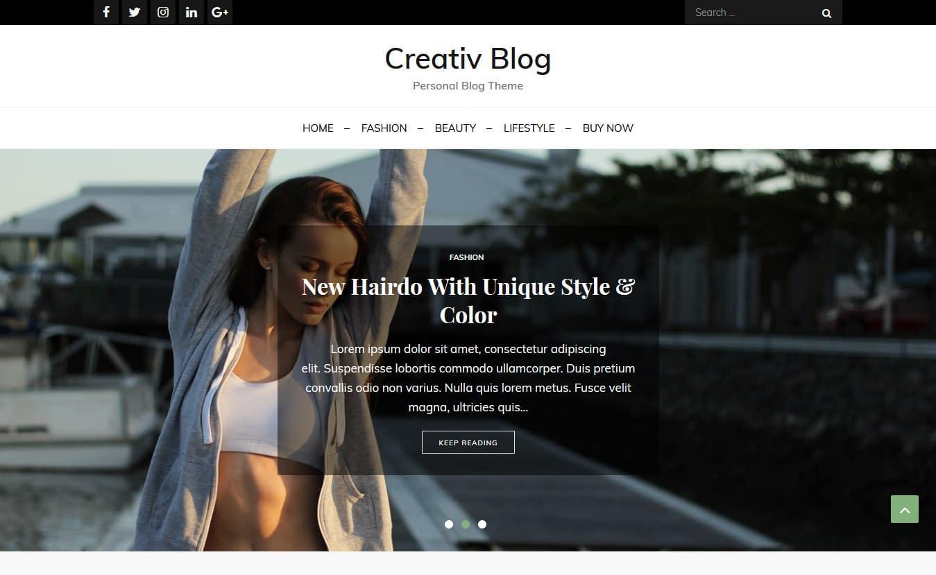 Creativ Blog - Free Gutenberg WordPress Theme