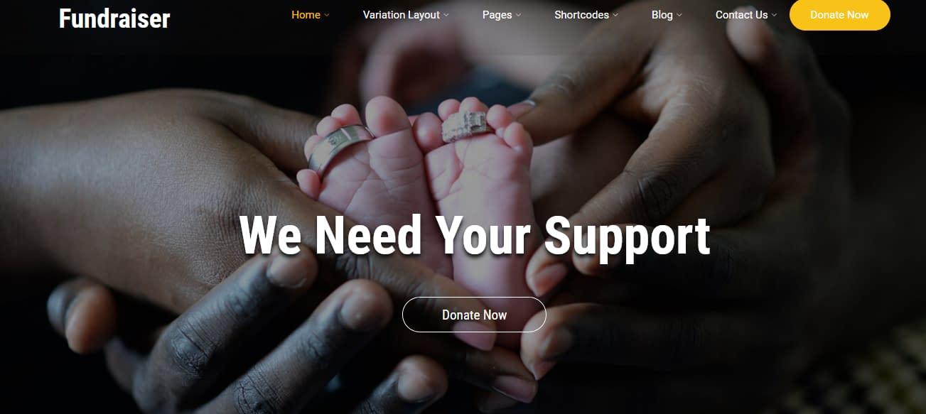 Fundraiser - Free WP Fund Raising Theme
