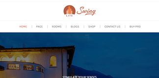 Swing Lite - Free Hotel and Resort WordPress Theme