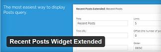 Recent Posts Widget Extended - Free WordPress Plugin